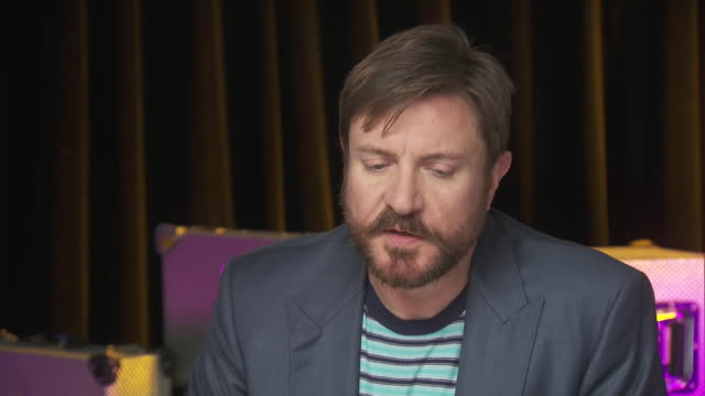 simon le bon talks about what it's like to perform for a charity event while backstage at the chime for change benefit concert to promote women's... - human rights or social issues or immigration or employment and labor or protest or riot or lgbtqi rights or women's rights stock videos & royalty-free footage