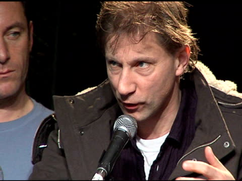 simon mcburney at the 2006 sundance film festival friends with money press conference on january 20 2006 - money press stock videos and b-roll footage