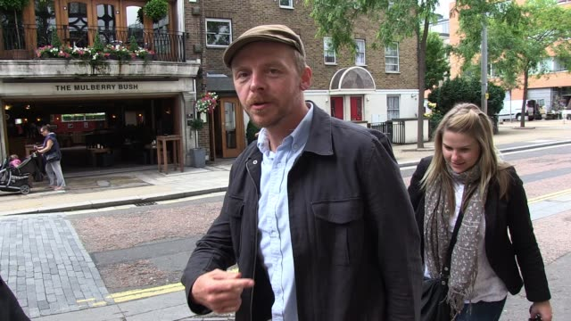 Simon Pegg arrives at ITV Studios to promote the DVD of the the movie Paul SIGHTED Simon Pegg on June 10 2011 in London England