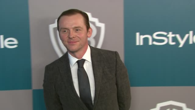Simon Pegg at 13th Annual Warner Bros And InStyle Golden Globe AfterParty on 1/15/2012 in Beverly Hills CA