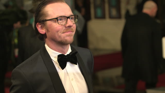 Simon Pegg at EE British Academy Film Awards 2013 Red Carpet Arrivals at The Royal Opera House on February 10 2013 in London England