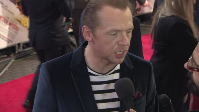 Simon Pegg at 'Mission Impossible Rogue Nation' UK special screening at BFI IMAX on July 25 2015 in London England