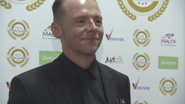simon pegg at national film awards at porchester hall on march 29, 2017 in london, england. - ポーチェスター点の映像素材/bロール