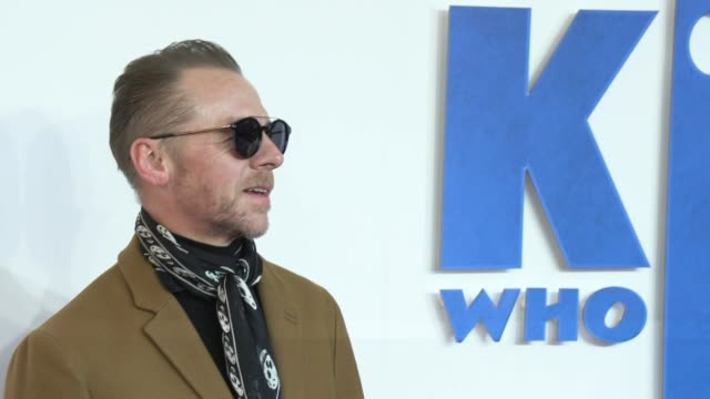 simon pegg at odeon leicester square on february 03 2019 in london england - simon pegg stock videos & royalty-free footage