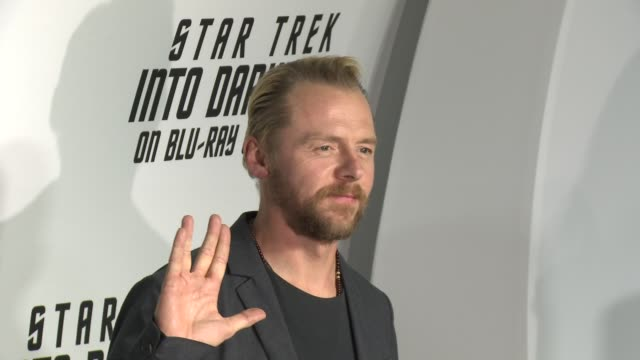 simon pegg at star trek into darkness bluray and dvd release on 9/10/2013 in los angeles ca - simon pegg stock videos & royalty-free footage
