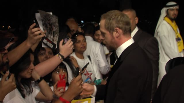 simon pegg at the mission impossible ghost protocol world premiere at dubai on december 7th 2011 - simon pegg stock videos & royalty-free footage