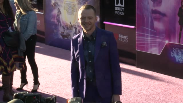 simon pegg at the ready player one world premiere on march 26 2018 in hollywood california - simon pegg stock videos & royalty-free footage