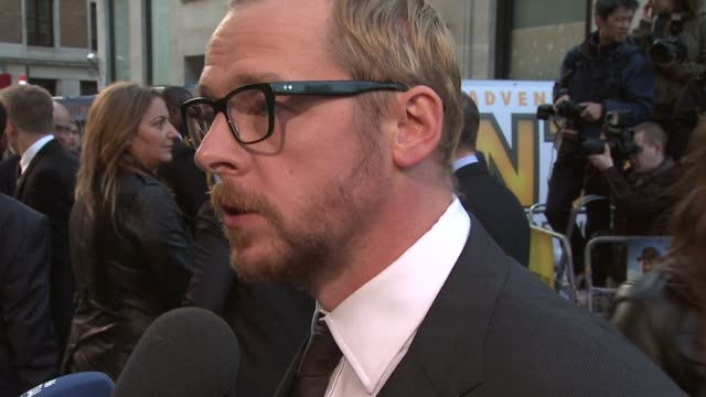 Simon Pegg at the The Adventures of Tintin UK Premiere at London England