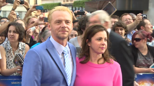 simon pegg at 'the world's end' world premiere at empire leicester square on july 10, 2013 in london, england. - the world's end stock videos & royalty-free footage