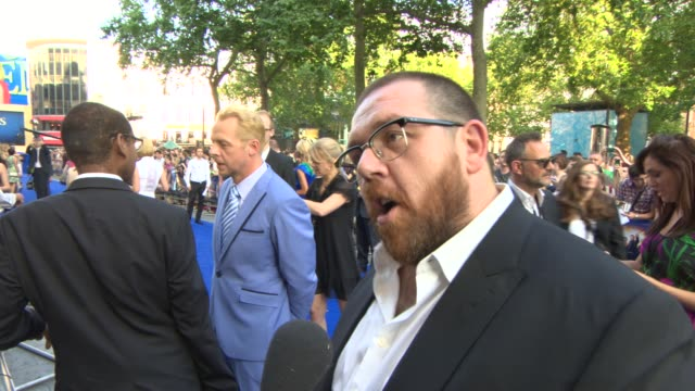 BROLL Simon Pegg Nick Frost Rosamund Pike at 'The World's End' World Premiere at Empire Leicester Square on July 10 2013 in London England