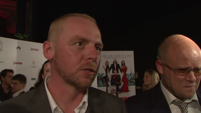 simon pegg on being at cannes on his key to success on why he wanted to be a part of the film on just being an actor in the film and on the us remake... - simon pegg stock videos & royalty-free footage