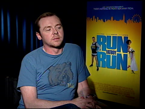 Simon Pegg on his character in the film at the 'Run Fatboy Run' Press Junket at the Four Seasons Hotel in Los Angeles California on March 24 2008