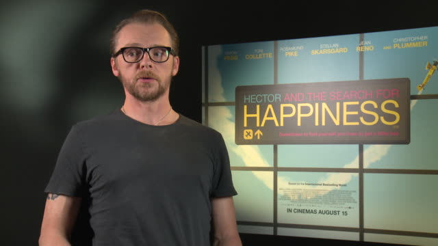 INTERVIEW Simon Pegg on his views on happiness at 'Hector and the Search for Happiness' Interview on August 12 2014 in London England
