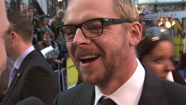 Simon Pegg on how he reacted when he got the call from Spielberg on the Thompson twins on being a Tintin fan rather than Asterix at the The...
