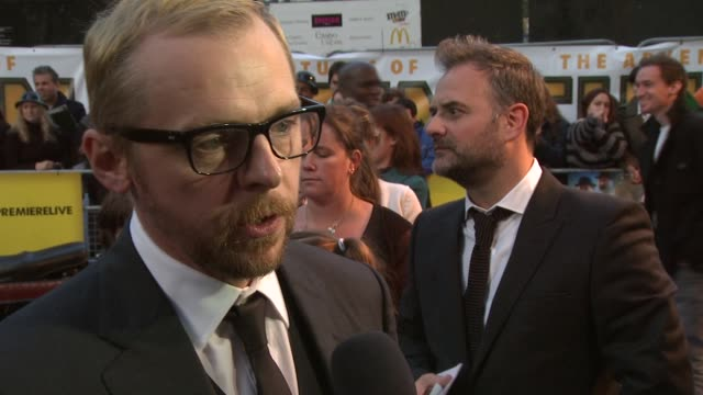 Simon Pegg on how the film was made at the The Adventures of Tintin UK Premiere at London England