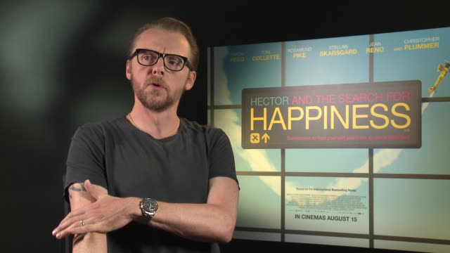 INTERVIEW Simon Pegg on if he would work with Nick Frost again at 'Hector and the Search for Happiness' Interview on August 12 2014 in London England