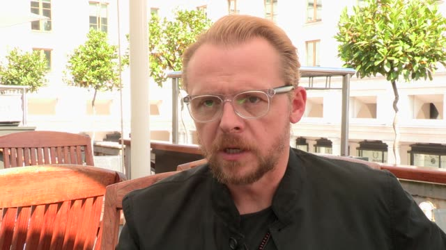 INTERVIEW Simon Pegg on joining the team on August 28 2013 in London England
