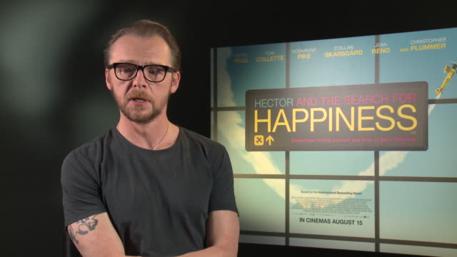 INTERVIEW Simon Pegg on modern day living at 'Hector and the Search for Happiness' Interview on August 12 2014 in London England