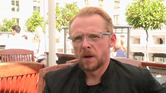 INTERVIEW Simon Pegg on the future on August 28 2013 in London England