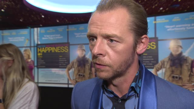 simon pegg on the search for happiness, his views on happiness, his thoughts on twitter, being a fan of rik mayall and robin williams 'hector and the... - rik mayall bildbanksvideor och videomaterial från bakom kulisserna