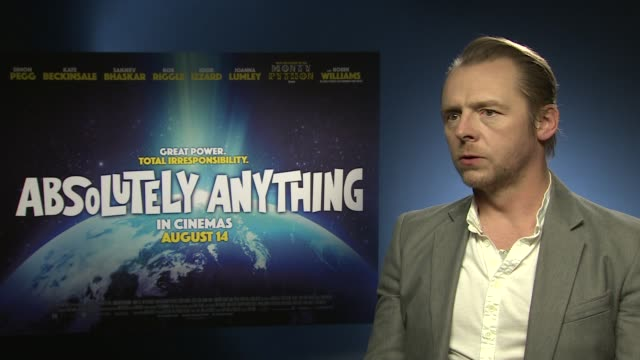 INTERVIEW Simon Pegg on the variety of films he's been making at 'Absolutely Anything' Interview at Soho Hotel on June 08 2015 in London England