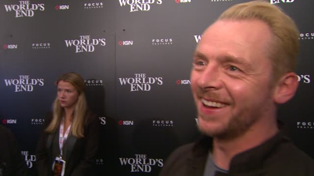 INTERVIEW Simon Pegg on what fans can expect from The World's End on working with this group of guys on the film just being released in the UK and on...