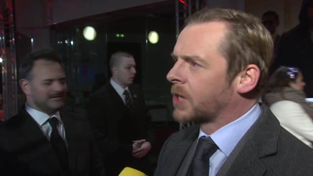 Simon Pegg on working with Tom Cruise what heÕs really like what Suri is like at the Mission Impossible Ghost Protocol UK Premiere at BFI IMAX on...