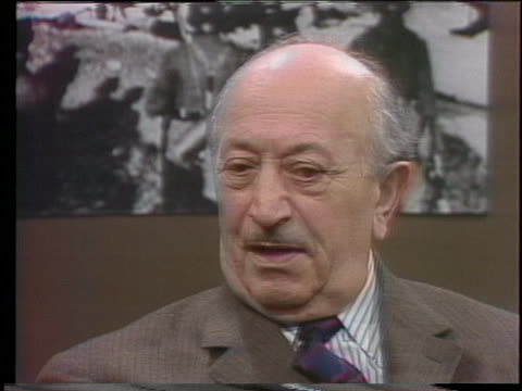simon wiesenthal discusses the need for fair trials for nazis in the post-war period. - holocaust stock videos & royalty-free footage