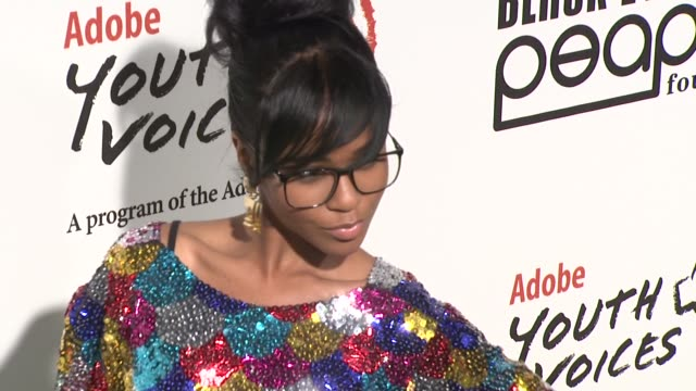 simone at the 5th annual black eyed peas peapod foundation benefit concert at los angeles ca - benefit concert stock videos & royalty-free footage