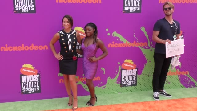 Simone Biles Aly Raisman at the Nickelodeon Kids' Choice Sports Awards 2017 at UCLA's Pauley Pavilion on July 13 2017 in Westwood California