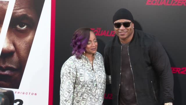Simone Johnson and LL Cool J at the 'The Equalizer 2' Premiere at TCL Chinese Theatre on July 17 2018 in Hollywood California