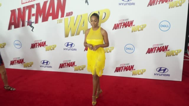 Simone Missick at the 'AntMan and the Wasp' World Premiere at the El Capitan Theatre on June 25 2018 in Hollywood California