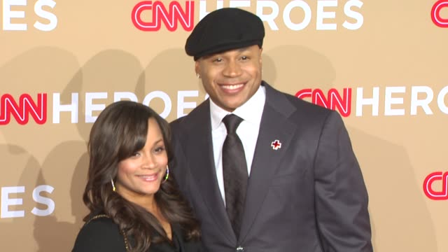 Simone Smith and LL Cool J at the CNN Heroes An AllStar Tribute at Los Angeles CA