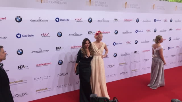 Simone Thomalla and Franziska Knuppe at the Lola German Film Award at Messe Berlin on May 27 2016 in Berlin Germany