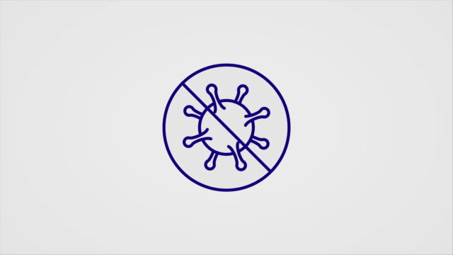 simple animated line-art icons for covid-19 disease symptoms and preventions - icon stock videos & royalty-free footage