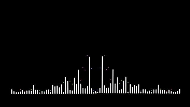 vidéos et rushes de spectre audio 4k simple sur fond noir. fond graphique et animation de mouvement. - but égalisateur