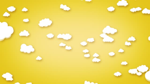 simple cartoon clouds sky background - puppet stock videos & royalty-free footage