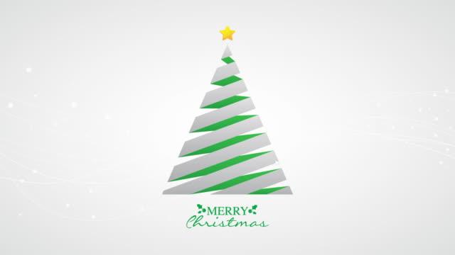 simple christmas tree animation - christmas tree stock videos and b-roll footage