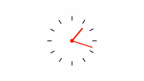 simple clock loop, 12 hours 4k time lapse video - time stock videos & royalty-free footage