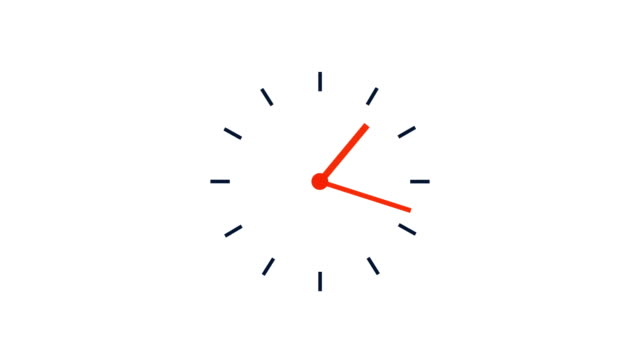 simple clock loop, 12 hours 4k time lapse video - illustration stock videos & royalty-free footage