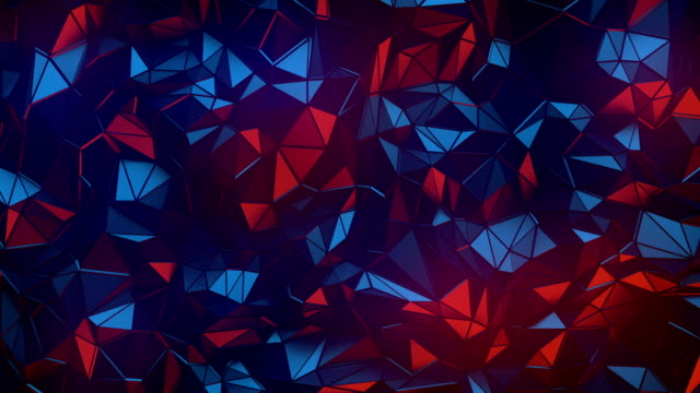 simple colored low poly loop background animation. triangular geometric motion pattern. 4k, ultra hd resolution - two dimensional shape stock videos & royalty-free footage