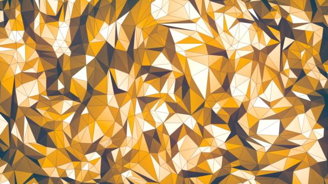 シンプルな色の低ポリ ループ背景のアニメーション。三角形の幾何学的な運動パターン。ウルトラ hd 解像度 4 k - フラクタル点の映像素材/bロール