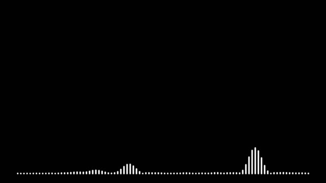4k simple equalizer on black background. motion graphic and animation background. - sound wave stock videos & royalty-free footage