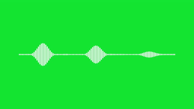 4k simple equalizer on green background. motion graphic and animation background. - wave stock videos & royalty-free footage