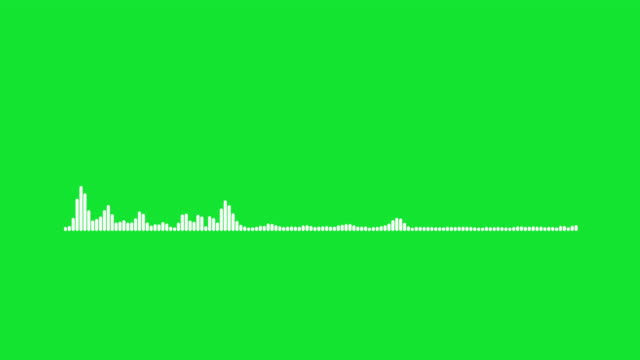 4k simple equalizer on green background. motion graphic and animation background. - wave pattern stock videos & royalty-free footage