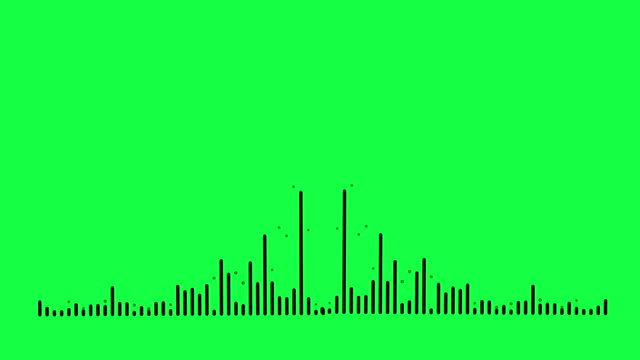 4k simple equalizer on green screen background. motion graphic and animation background. - audio available stock videos & royalty-free footage