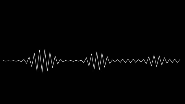 4k simple equalizer white on black background. motion graphic and animation background. - voice stock videos & royalty-free footage