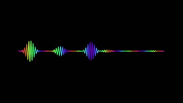 vídeos de stock, filmes e b-roll de branco do equalizador de 4k simples no fundo preto. fundo do gráfico e da animação do movimento. - áudio disponível online
