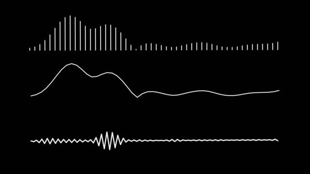 vídeos y material grabado en eventos de stock de 4k ecualizador simple blanco sobre fondo negro. gráfico de movimiento y fondo de animación. - frecuencia