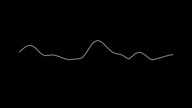 4k simple equalizer white on black background. motion graphic and animation background. - noise video stock e b–roll